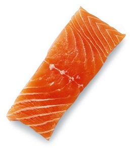 Salmon food for glowing skin and healthy hair